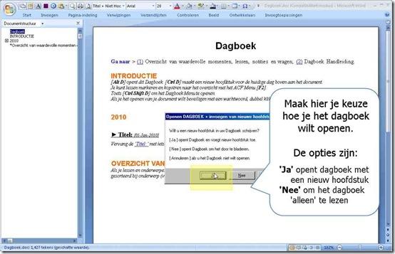 DEMO van het digitale Dagboek openen