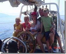 Met het gezin op de Morning Star in Griekenland (Hellenic Ministries)